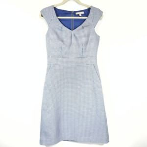 Banana Republic Sheath Blue Circle Dress
